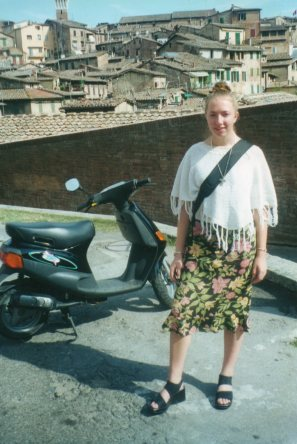 High school me, ready to steal a moped and move to Italy!