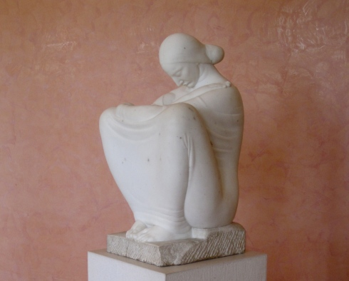 I'd love to sit and daydream. But it's not me right now! Sculpture by Ivan Mestrovic, at the Mestrovic Gallery in Split, Croatia.