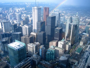 TO, from the top of the CN Tower.
