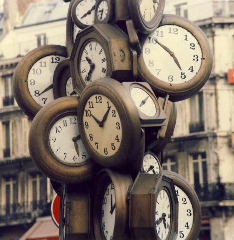 Paris Clocks by Nick on Flickr