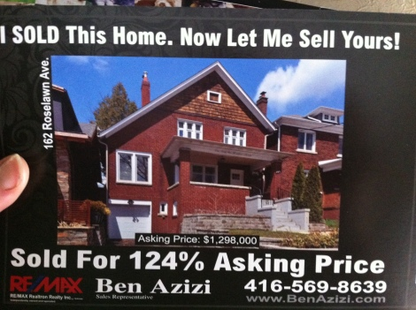 This sort of thing comes in the mail daily from local real estate agents. Jerks.