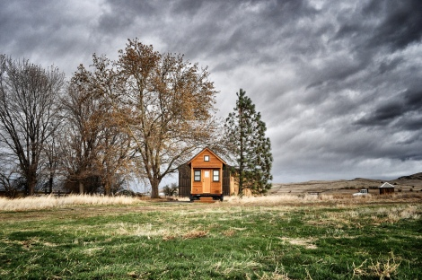 Tiny house in a windstorm by Tammy Strobel on Flickr