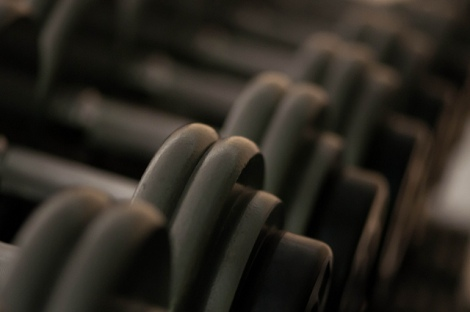 "Work that discipline muscle! ""Dumbells"" by Garen Meguerian on Flickr"