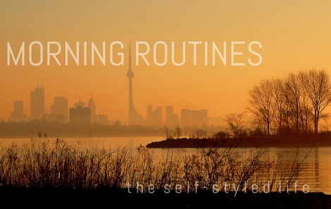 """""""Morning Routines"""" on the self-styled life (Photo by Grant MacDonald on Flickr)"""